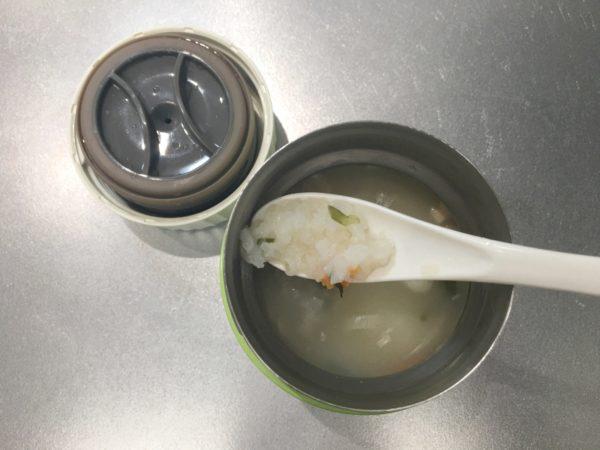 食べるスープで作ったリゾット
